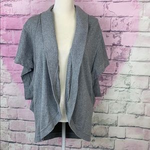 Lucky Brand open sweater cardigan short sleeve M